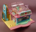 Polly Pocket 1995 Light-Up Supermarket, #14532, Grocery Aisles Tables & Freezer Light Up