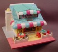 Polly Pocket 1993 Pollyville Light-Up Pizzeria, #940311, Sign & Oven Light Up