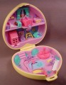 Polly Pocket 1994 Strollin' Baby Compact, Baby Sitting Collection, #950951, Polly's Playtime