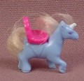 Polly Pocket 1995 Light Blue Unicorn Pony With White Hair Mane & Tail, From Unicorn