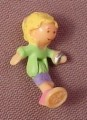 Polly Pocket 1995 Polly Doll Figure, From Polly Loves Puppy Bracelet Compact, Pet Parade