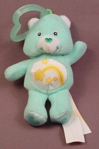 Burger King 2005 Care Bears Plush Wish Bear With Clip, 4 Inches Tall
