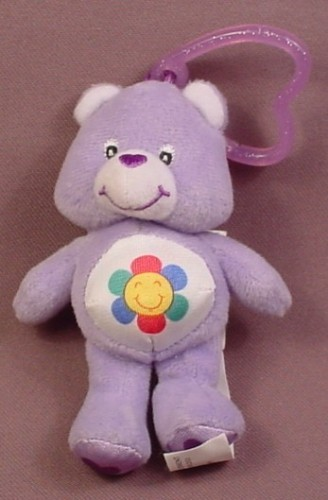 Burger King 2005 Care Bears Plush Harmony Bear With Clip, 4 Inches Tall