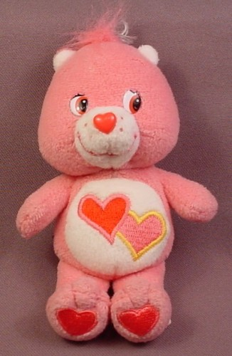 Care Bears Holiday Friends Plush Love A Lot Bear, 5 1/4 Inches Tall, 2002 Play Along