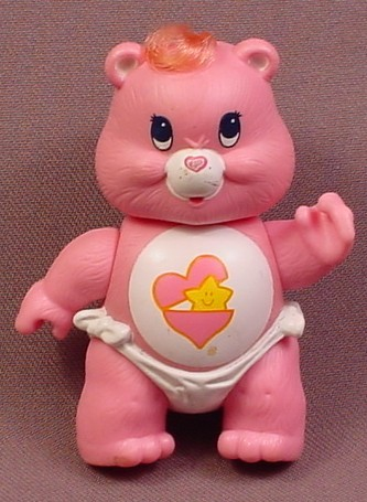 Care Bears Hugs Baby Bear Poseable PVC Figure, 3 1/4 Inches Tall, 1984 Kenner ACG
