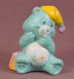 Care Bears 1983 Bedtime Bear With Night Cap PVC Figure, 2 Inches Tall, AGC
