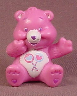 Care Bears Share Bear With Hand On Cheek PVC Figure, 1 3/4 Inches Tall, AGC