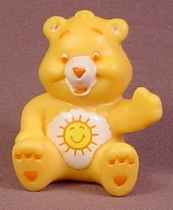 Care Bears Funshine Bear In Sitting Pose PVC Figure, 1 5/8 Inches Tall