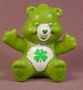 Care Bears Luck Bear In Sitting Pose PVC Figure, 1 5/8 Inches Tall