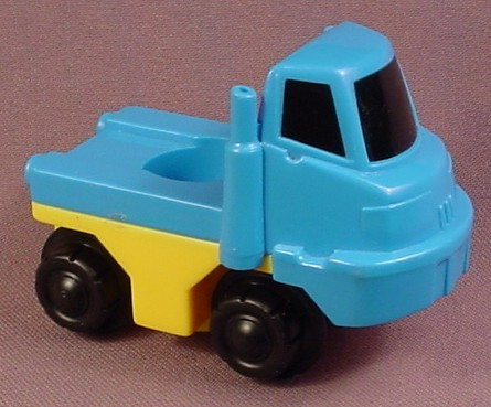 Fisher Price Flip Track Blue Amp Yellow Truck With Bed For