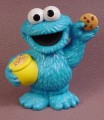 Sesame Street Young Cookie Monster With Yellow Cookie Jar & Cookie PVC Figure, 2010