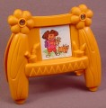 Dora The Explorer Talking Dollhouse Brown Easel Playset Accessory, 3 1/2 Inches Tall