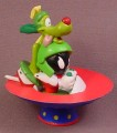 Looney Tunes Marvin The Martian & His Dog K-9 In A Spaceship PVC Figure, 3 Inches Tall