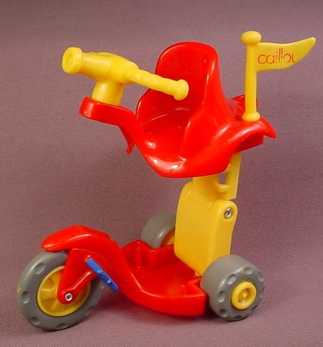 Caillou Expanding Fire Engine Trike Tricycle Vehicle, 5 Inches Tall When Raised, Folds Down