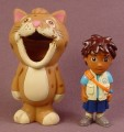 Dora The Explorer Go Diego 2 Inch Tall PVC Figure With A Rubber Jaguar Suit, 2007
