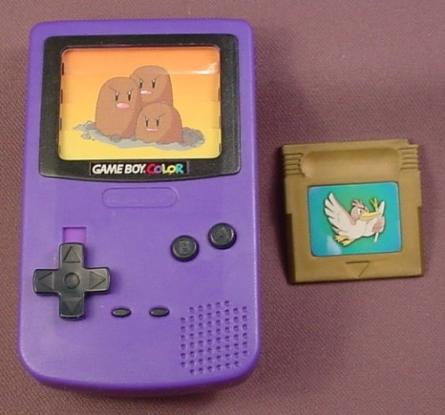 Burger King 2000 Pokemon Purple Digett Dugtrio Gameboy Toy, With Game Card, Nintendo