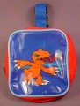 Digimon Carrying Case Pouch With Belt Loop & Zipper, 4 Inches Square