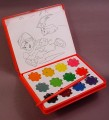 Digimon Water Color Paint Box Set With Six 5 By 3 3/4 Inch Coloring Pages & Paint Brush