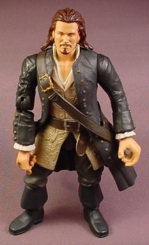 Disney Pirates Of The Caribbean Hatchet Hurling Will Turner Action Figure, 7 Inches Tall, 2006