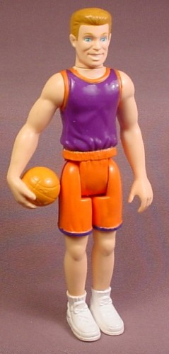 Basketball Player Action Figure, 6 1/4 Inches Tall, Hasbro, Bends At The Waist