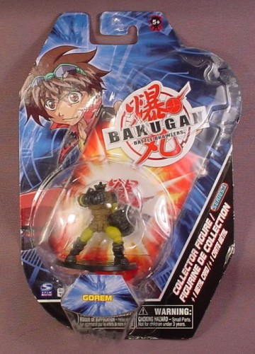 Bakugan Series 1 Gorem Collector Figure With Metal Card, Sealed In Package, Spinmaster