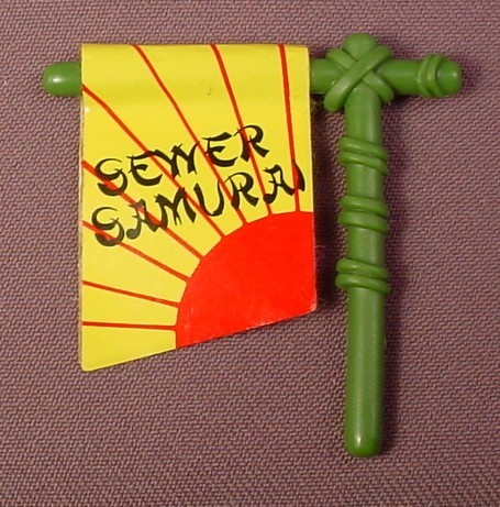 TMNT Banner Holder & Banner Accessory For A Leo The Sewer Samurai Action Figure, 1990