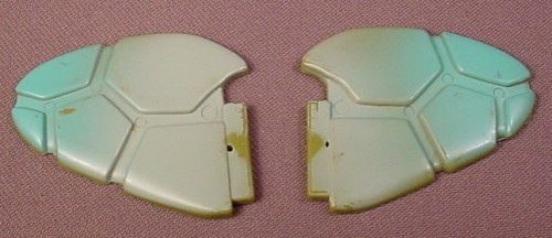 TMNT Pair Of Replacement Tail Fins For A Turtle Copter Vehicle, 1990 Playmates