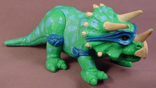 TMNT Dingy Dino Dinosaur Action Figure For Cave Turtle Leo, 1993 Playmates