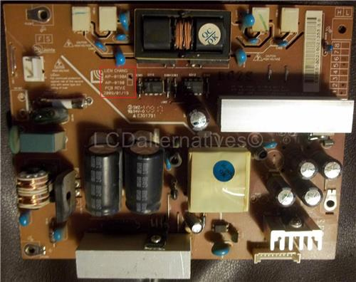 LG 22LH20 AIP-0190A, LCD TV Replacement Capacitors, Board not Included.