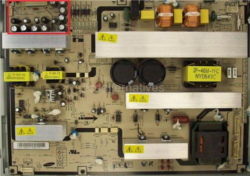 Samsung LNS4695DX, LCD TV Repair Kit, Capacitors Only, Not the Entire Board
