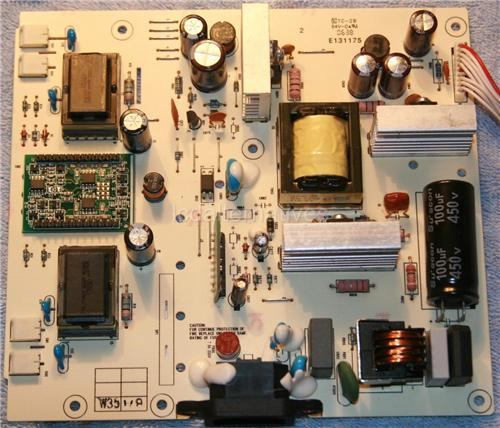 Gateway LP2207, LCD Monitor Repair Kit, Power Board Capacitors Only, Not the Entire Board