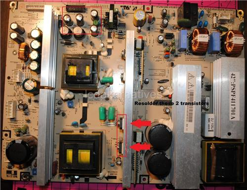Samsung HP-T4254, Plasma TV Repair Kit, Capacitors Only, Not Entire Board
