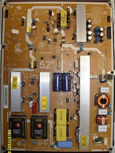 Samsung LN52A630, LCD TV Repair Kit, Capacitors Only, Not the Entire Board