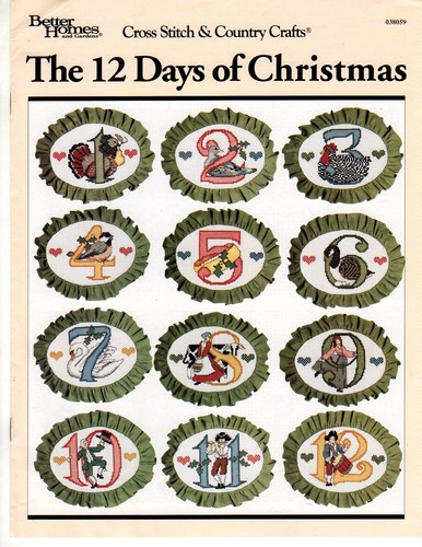 12 Days Of Christmas Cross Stitch.Bh G Cross Stitch Country Crafts 12 Days Of Christmas
