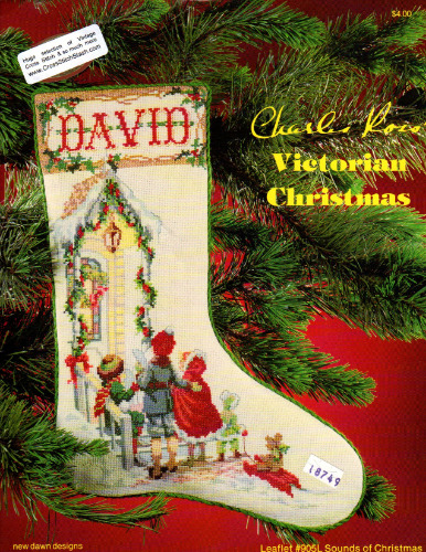 Victorian Christmas Stockings.New Dawn Designs Charles Ross Victorian Christmas Sounds Of Christmas