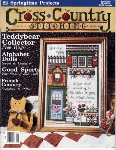 CROSS COUNTRY STITCHING MAGAZINE April 1993