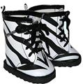 ZEBRA BOOTS with Leather Look