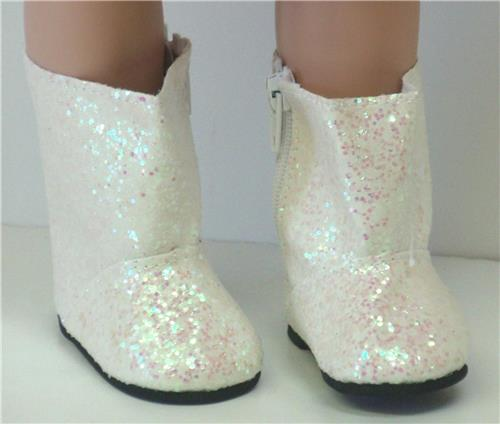 WHITE SPARKLE BOOTS