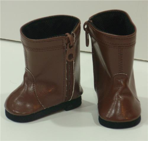 BROWN BOOTS WITH ZIPPER