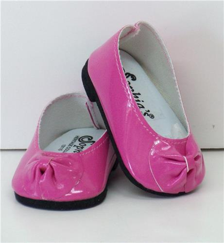 HOT PINK  PATENT SLIP ON SHOES