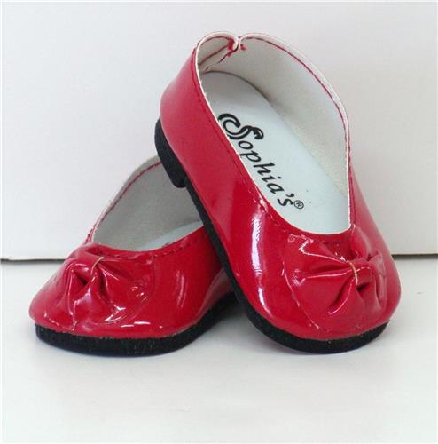 RED PATENT SLIP ON SHOES