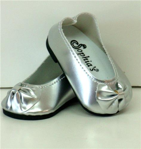 SILVER PATENT SLIP ON SHOES