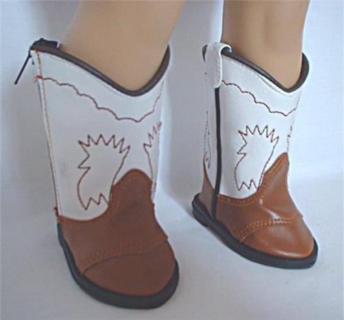BROWN & WHITE COWGIRL BOOTS