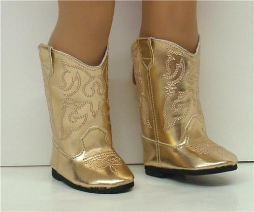 GOLD COWGIRL BOOTS