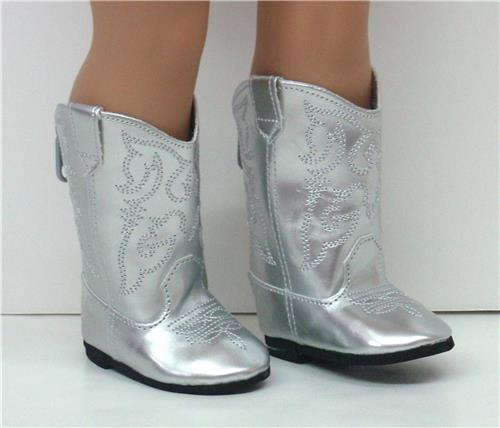 SILVER COWGIRL BOOTS