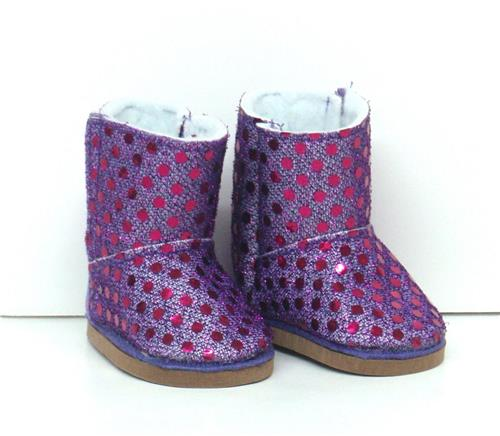 PURPLE SPARKLE BOOTS