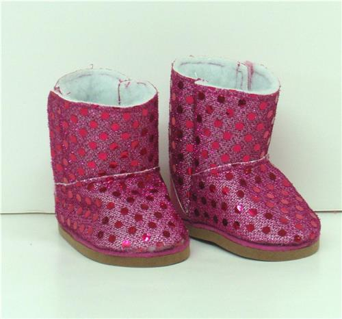 HOT PINK SPARKLE BOOTS