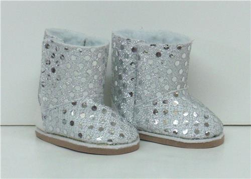 SILVER SPARKLE BOOTS