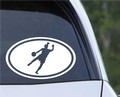 EURO OVAL Die Cut VINYL CAR DECAL Wall Sticker Soccer Player Futbol Female Kicking Goal.jpeg