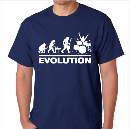 Drummer Evolution Shirt-Nvy.jpeg